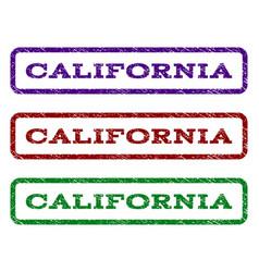 california watermark stamp vector image