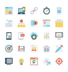 Design and Development Colored Icons 1 vector image