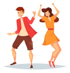 man and woman girl and boy dancing at disco vector image