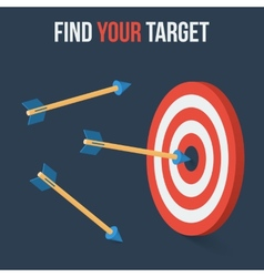 target concept in flat axonometric style vector image
