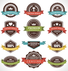 Vintage stickers and labels vector image vector image