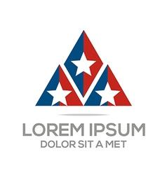business creative star emblem logo design icon sol vector image vector image