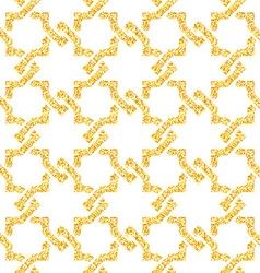Golden seamless weave pattern vector
