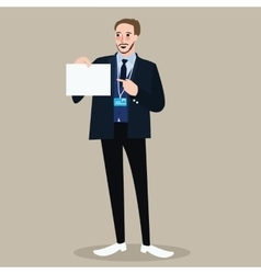 hiring recruitment business man holding sign vector image vector image