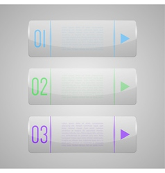 Set of shiny banners with glossy surface vector image