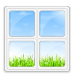 Summer behind the Window vector image vector image