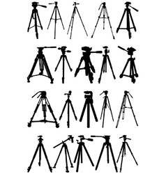 Tripod silhouettes vector image vector image