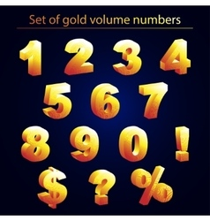 volume set of gold numerals vector image