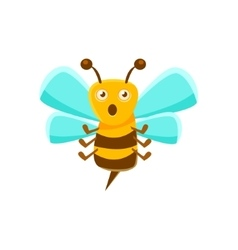 Confused bee mid air with sting natural honey vector