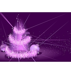 Purple Christmas Background vector image vector image