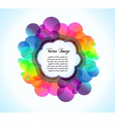 rainbow bubbles background vector image vector image