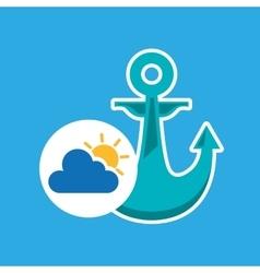 summer vacation design nautical anchor icon vector image