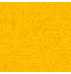 Thin Thanksgiving Dinner Line Holiday Seamless vector image vector image