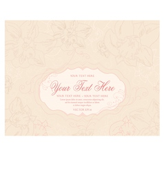 Vintage pastel background with hand drawn flowers vector image
