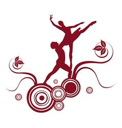 ballet abstract design 2 vector image vector image