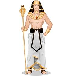 Egyptian Pharaoh Standing For Passover vector image