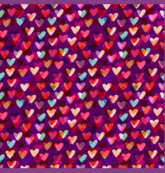 hearts seamless pattern fashion background for vector image