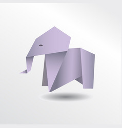 origami elephant vector image vector image