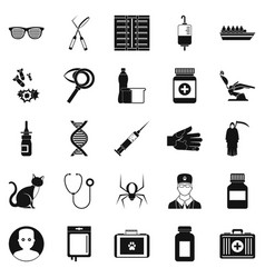 physician icons set simple style vector image