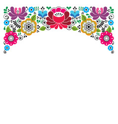 russian floral pattern colorful composition vector image