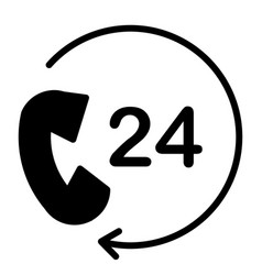 24 hours service support icon minimal pictogram vector image vector image