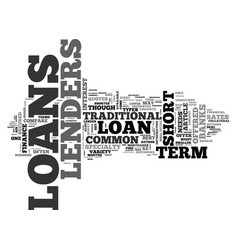a guide to common short term loans text word vector image vector image