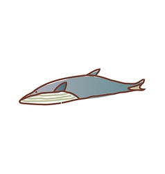 A swimming whale vector