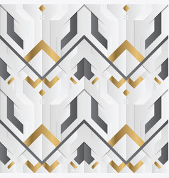 Abstract geometric decor stripes white and golden vector