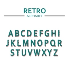 alphabet with letters hand drawn font vector image