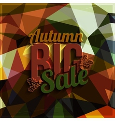 Autumn sale typography on triangular background in vector image