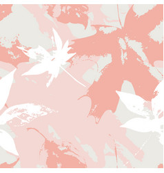 autumnal maple leaves seamless pattern in pastel vector image