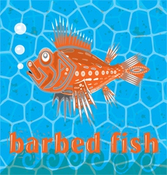 barbed fish vector image
