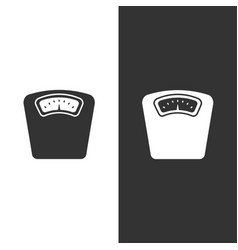 bathroom scale icon on a white and black vector image