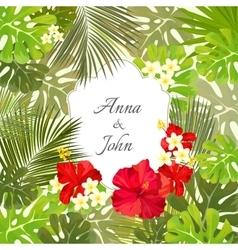 beautiful wedding invitation save date vector image