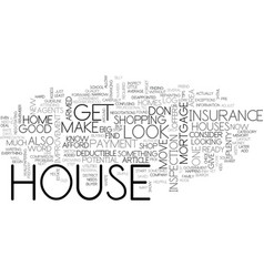 before you buy a house top tips text word cloud vector image