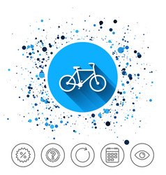 Bicycle sign icon eco delivery vector
