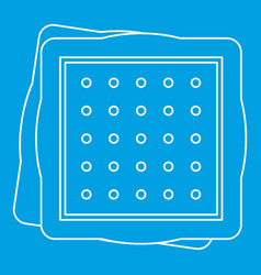 Biscuit icon outline style vector