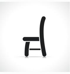 black chair icon symbol vector image