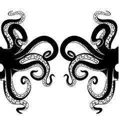 black octopus tentacles vector image