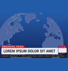 Breaking news live vector
