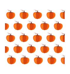 bright cartoon pattern with orange pumpkins vector image
