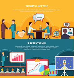 Business events banners set vector