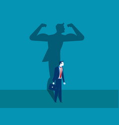 Businessman with a shadow and career strength vector