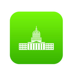 capitol icon digital green vector image