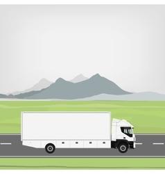 Cargo truck vector image