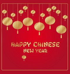 chinese new year red and gold background vector image