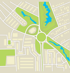 city map conceptual vector image