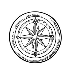 Compass rose isolated on white background vector