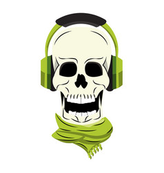 cool skull cartoon vector image