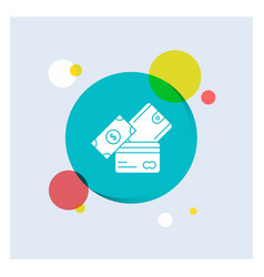 credit card money currency dollar wallet white vector image